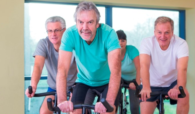 Exercise resulted in decreases in BMI, HbA1c, and waist circumference.
