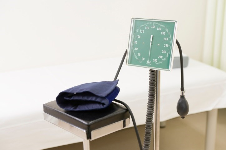 Blood pressure decreases more than a decade before death