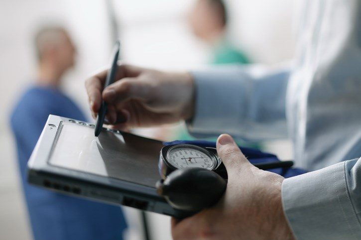 Blood pressure was assessed at baseline and at 4 and 12 months.