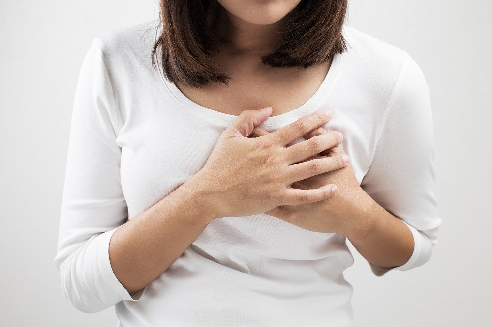 Depression is associated with recurrent chest pain in adults regardless of the presence of coronary artery disease.